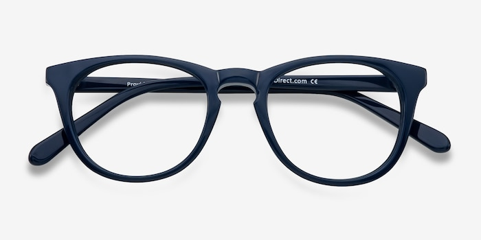 Providence Navy Acetate Eyeglass Frames from EyeBuyDirect, Closed View