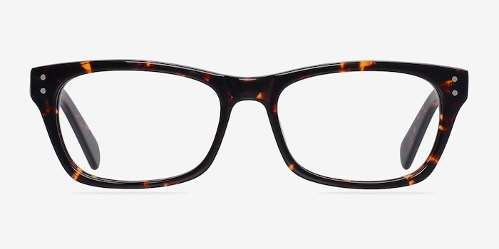 Avalon Tortoise Acetate Eyeglass Frames from EyeBuyDirect, Front View