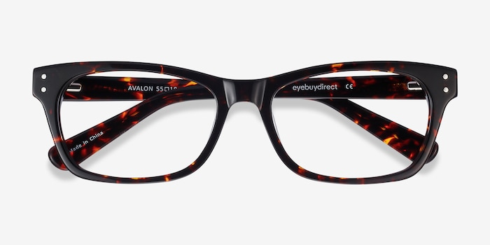 Avalon Tortoise Acetate Eyeglass Frames from EyeBuyDirect, Closed View