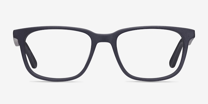 Bristol Matte Navy Acetate Eyeglass Frames from EyeBuyDirect, Front View