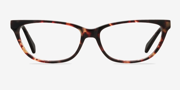 Maya Tortoise Acetate Eyeglass Frames from EyeBuyDirect, Front View