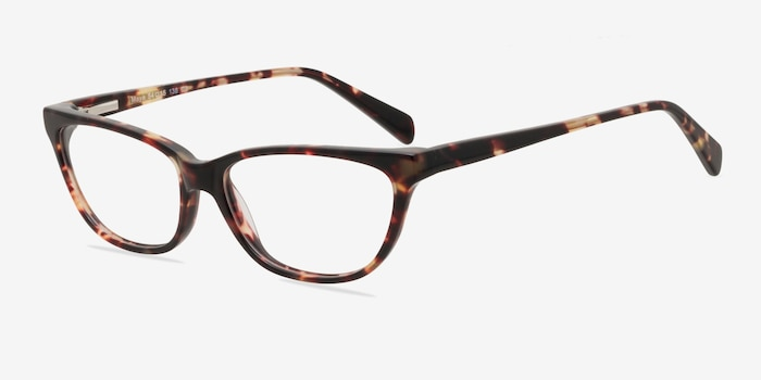 Maya Tortoise Acetate Eyeglass Frames from EyeBuyDirect, Angle View