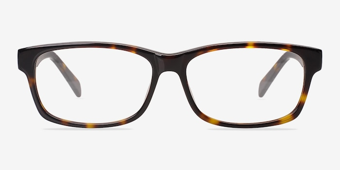 Kyle Brown/Tortoise Acetate Eyeglass Frames from EyeBuyDirect, Front View