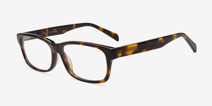 Kyle Brown/Tortoise Acetate Eyeglass Frames from EyeBuyDirect, Angle View