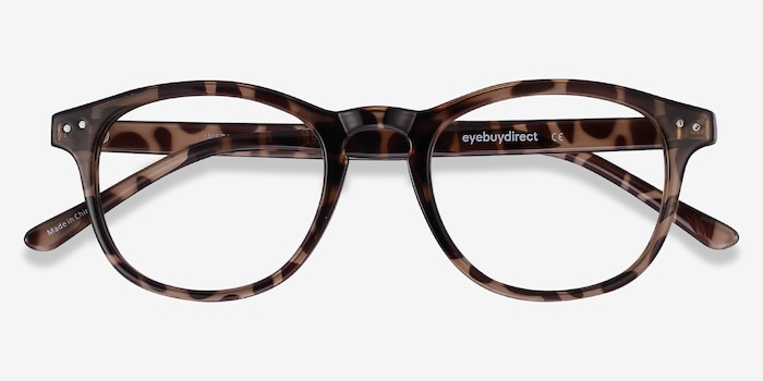 Instant Crush Léopard Plastique Montures de Lunettes d'EyeBuyDirect, Vue Rapprochée