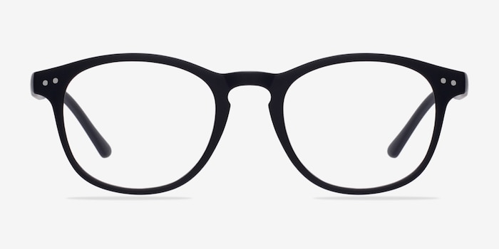 Instant Crush Matte Navy Plastic Eyeglass Frames from EyeBuyDirect, Front View