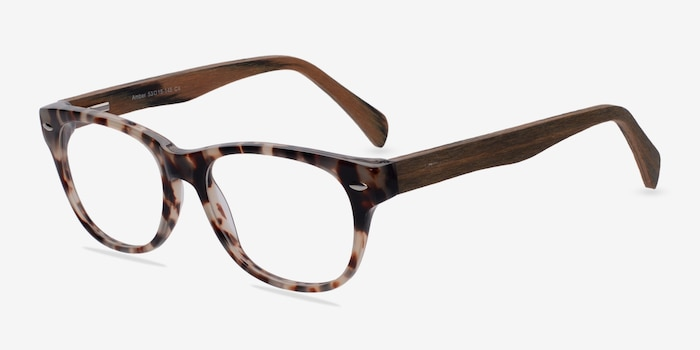 Amber Ivory/Tortoise Acetate Eyeglass Frames from EyeBuyDirect, Angle View