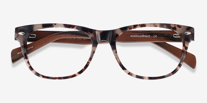 Amber Ivory/Tortoise Acetate Eyeglass Frames from EyeBuyDirect, Closed View