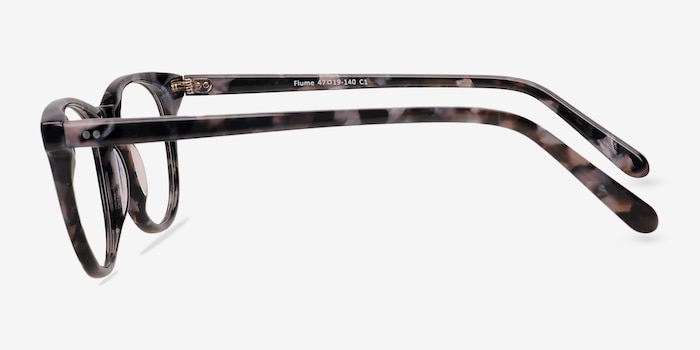 Flume Gray/Floral Acetate Eyeglass Frames from EyeBuyDirect, Side View