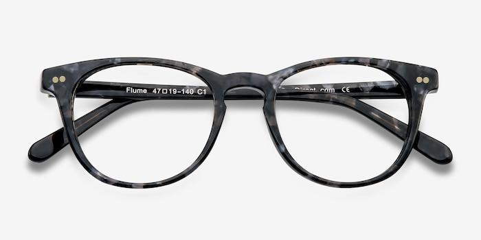 99b6f853a8 Flume Gray Floral Acetate Eyeglass Frames from EyeBuyDirect