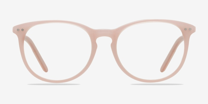 Fiction Pink Acetate Eyeglass Frames from EyeBuyDirect, Front View