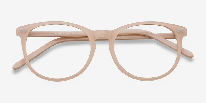 Fiction Pink Acetate Eyeglass Frames from EyeBuyDirect, Closed View