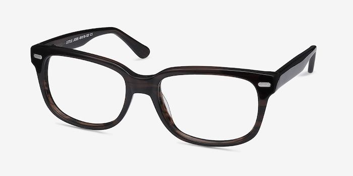 Little John Brown Acetate Eyeglass Frames from EyeBuyDirect, Angle View