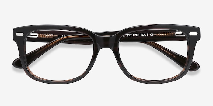 Little John Brown Acetate Eyeglass Frames from EyeBuyDirect, Closed View