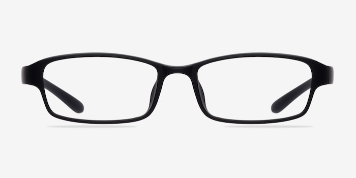Little Preston Black Plastic Eyeglass Frames from EyeBuyDirect, Front View