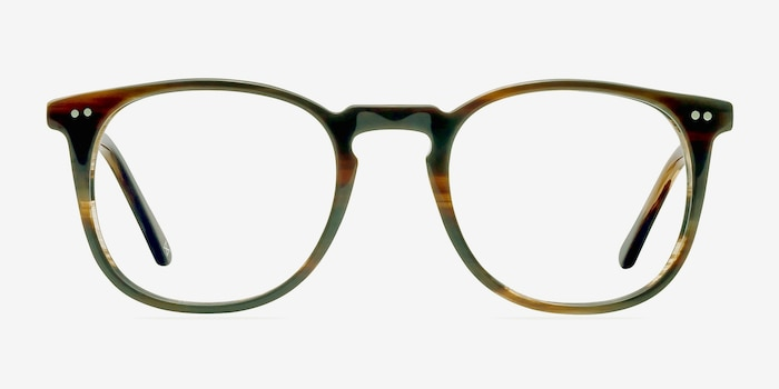 Shade Macchiato Acetate Eyeglass Frames from EyeBuyDirect, Front View