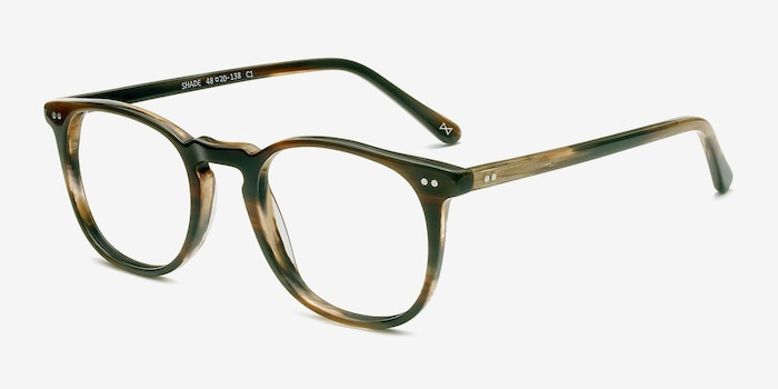 Shade Macchiato Acetate Eyeglass Frames from EyeBuyDirect, Angle View