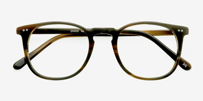Shade Macchiato Acetate Eyeglass Frames from EyeBuyDirect, Closed View