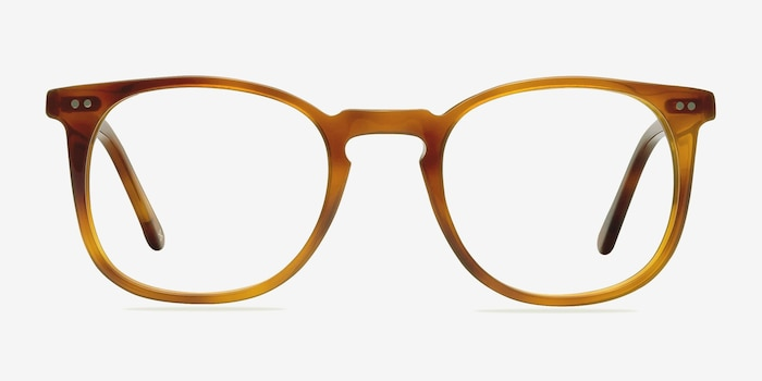 Shade Cinnamon Acetate Eyeglass Frames from EyeBuyDirect, Front View