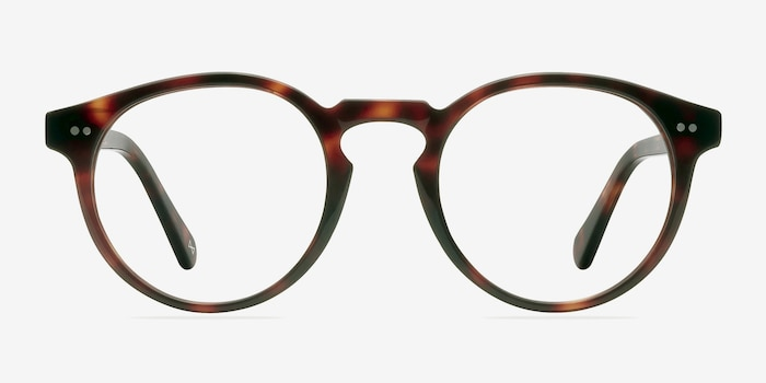 Theory Warm Tortoise Acetate Eyeglass Frames from EyeBuyDirect, Front View