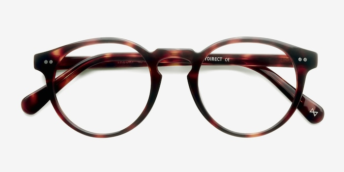 Theory Warm Tortoise Acetate Eyeglass Frames from EyeBuyDirect, Closed View