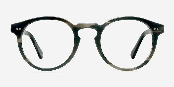 Theory Striped Granite Acetate Eyeglass Frames from EyeBuyDirect, Front View