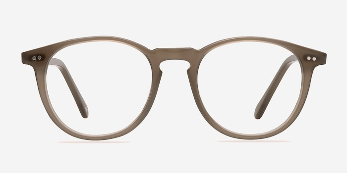 Prism Taupe Acetate Eyeglass Frames from EyeBuyDirect, Front View
