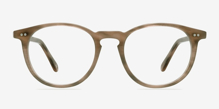 Prism Chestnut Acetate Eyeglass Frames from EyeBuyDirect, Front View