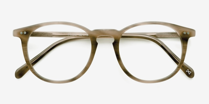Prism Chestnut Acetate Eyeglass Frames from EyeBuyDirect, Closed View