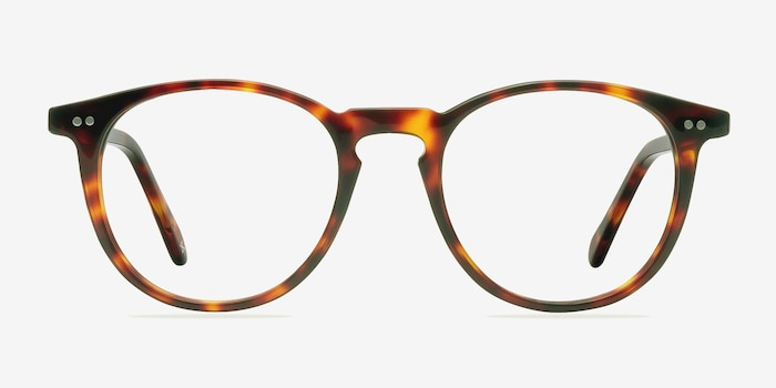Prism Warm Tortoise Acetate Eyeglass Frames from EyeBuyDirect, Front View