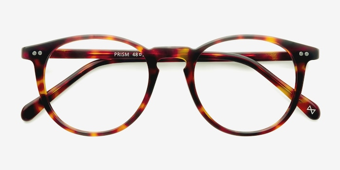 Prism Warm Tortoise Acetate Eyeglass Frames from EyeBuyDirect, Closed View