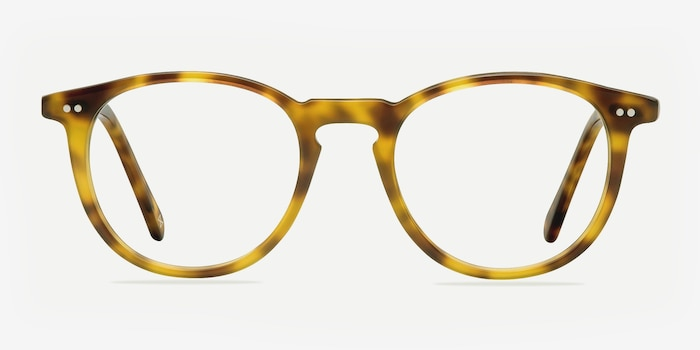 Prism Blonde Tortoise Acetate Eyeglass Frames from EyeBuyDirect, Front View