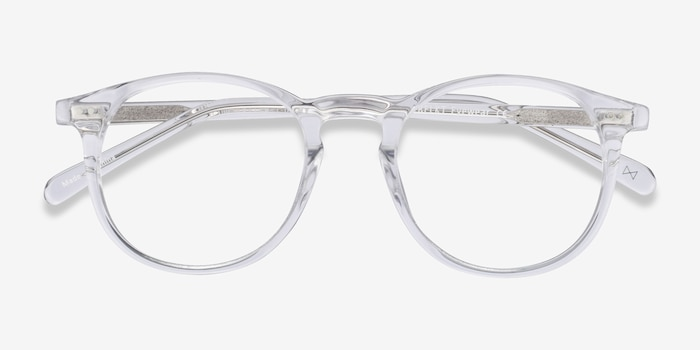 Prism Clear Acetate Eyeglass Frames from EyeBuyDirect, Closed View