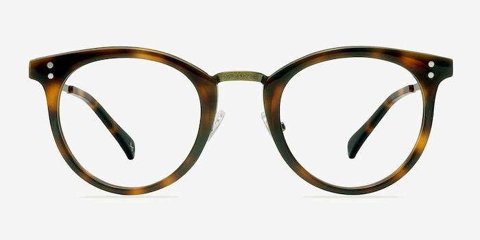 Nostalgia Caramel Metal Eyeglass Frames from EyeBuyDirect, Front View