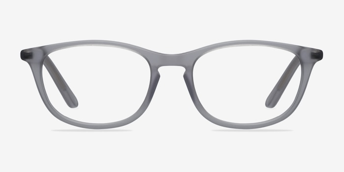 Valentin Clear/Gray Acetate Eyeglass Frames from EyeBuyDirect, Front View