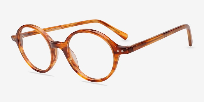 Flavor Tortoise Acetate Eyeglass Frames from EyeBuyDirect, Angle View