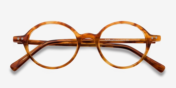 Flavor Tortoise Acetate Eyeglass Frames from EyeBuyDirect, Closed View