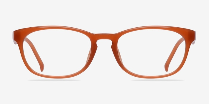 Drums Orange Plastic Eyeglass Frames from EyeBuyDirect, Front View