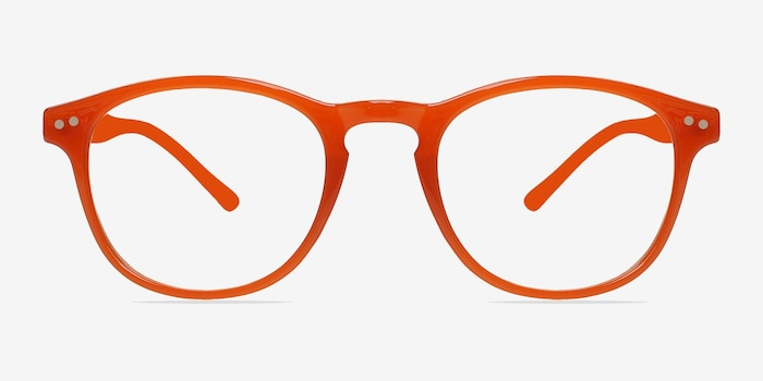 Instant Crush Orange Plastic Eyeglass Frames from EyeBuyDirect, Front View