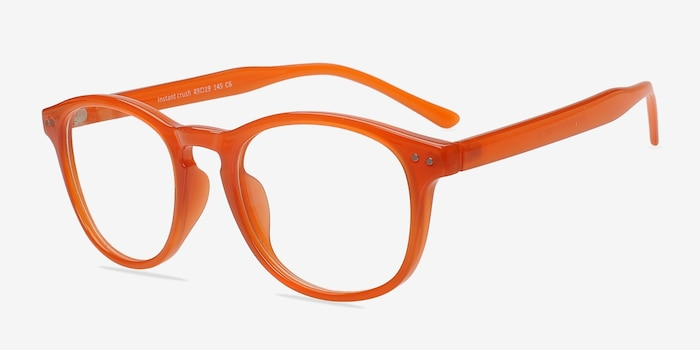 Instant Crush Orange Plastic Eyeglass Frames from EyeBuyDirect, Angle View