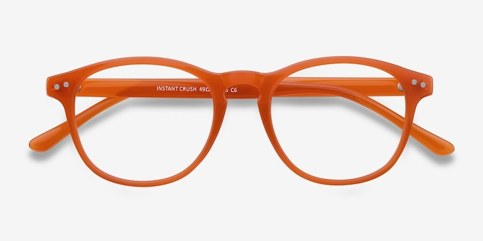 Instant Crush Orange Plastic Eyeglass Frames from EyeBuyDirect, Closed View