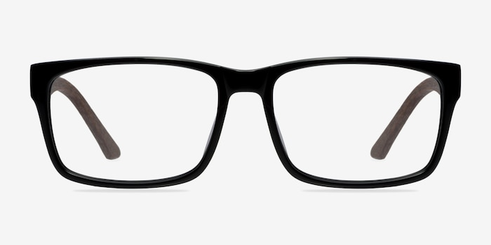Lexington Black/brown Acetate Eyeglass Frames from EyeBuyDirect, Front View