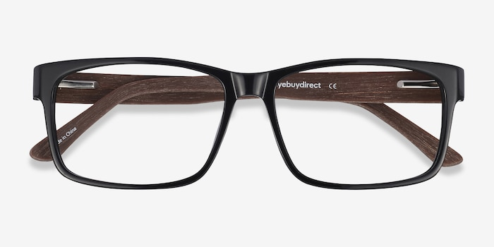 Lexington Black/brown Acetate Eyeglass Frames from EyeBuyDirect, Closed View