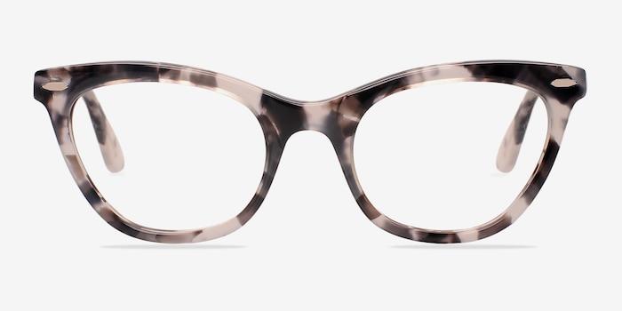 Ellie Gris Acétate Montures de Lunettes d'EyeBuyDirect, Vue de Face