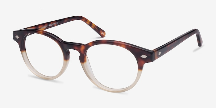Concept Macchiato Tortoise Acetate Eyeglass Frames from EyeBuyDirect, Angle View