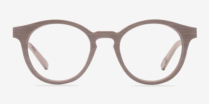 Breeze Beige Acetate Eyeglass Frames from EyeBuyDirect, Front View