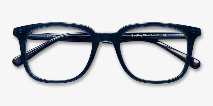 Ornette  Blue  Acetate Eyeglass Frames from EyeBuyDirect, Closed View