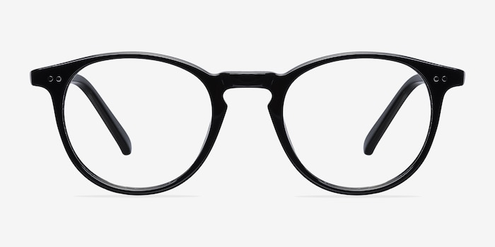 Kyoto  Black  Acetate Eyeglass Frames from EyeBuyDirect, Front View