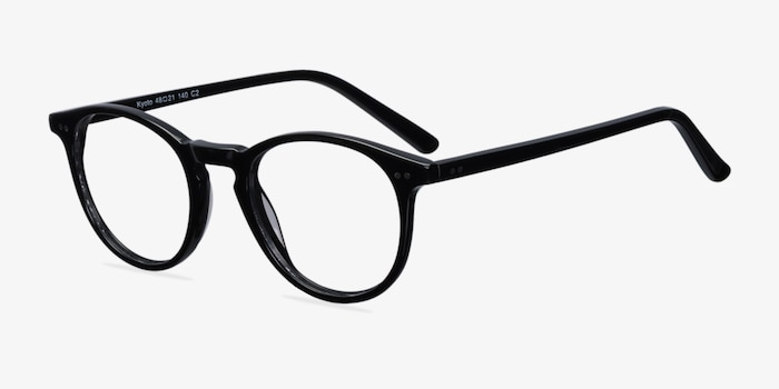 4e04ca989b Kyoto Black Acetate Eyeglass Frames from EyeBuyDirect