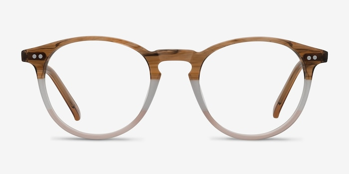 Kyoto Neapolitan Acetate Eyeglass Frames from EyeBuyDirect, Front View